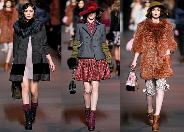 Мода осень-зима-2012 винтаж