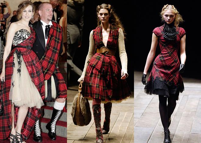 Мода осень-зима-2012 шотландка