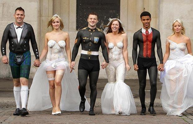 Тематическая свадьба боди-арт