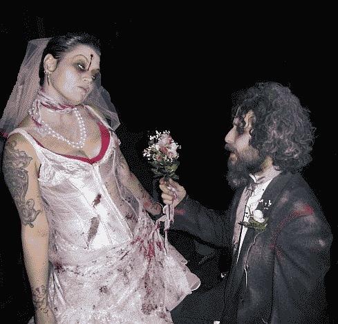 Тематическая свадьба Зомби